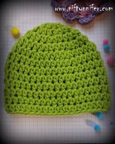 This easy crochet beanie is perfect for beginning crocheter! Easy Beanie All Sizes Free Pattern With PDF Option - Media - Crochet Me