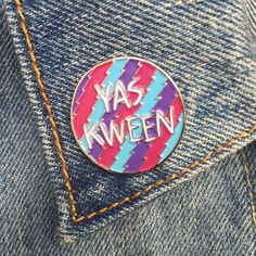Yas Kween Pin, Broad City, Abbi, Ilana, Soft Enamel Pin, Jewelry, Art, Gift (PIN12)