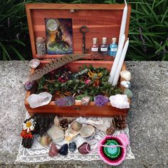 Witch Wicca Witchcraft Spell Vintage Lane Cedar Box by jss3677, $80.00