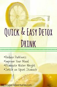 Lemon Detox Drink- try this first thing in the morning!