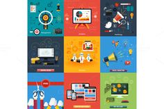 Check out Icons for web design, seo, social by robuart on Creative Market