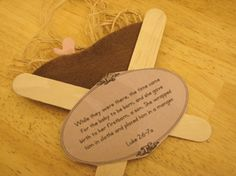 Manger Craft - A perfect project to take with us when we go visit the nursing home this winter.