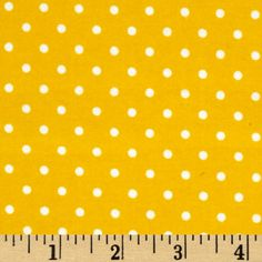 Kaufman Cozy Cotton Flannel Small Dot Yellow Fabric By The Yard
