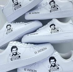 Nike Air Force 1 Escobar Available in all sizes for Men and Women and Children   For Womens sizes subtract 1.5 from your current size and select it, for example:  Women size 7 = 5.5 US Men Women size 8 = 6.5 US Men Women size 9 = 7.5 US Men Women size 10 = 8.5 US Men   All of our designs are handmade and made to order, we manage our orders professionally and use original high quality sneakers. Please allow up to 10 business day for your order to get processed.  All items are custom made in… Nike Air Force, Us Man, Custom Made, Sneakers, Size 10, Shoes, Business, Children, Handmade