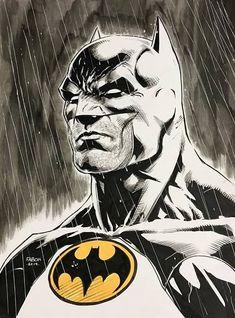 Jason Fabok Batman sketch, in Ron Chmiel's Ron's Original Art Comic Art Gallery Room Batman Poster, Batman Artwork, Batman Comic Art, Batman Vs Superman, Batman Arkham, Batman Robin, Comic Book Characters, Comic Books Art, Blackwork