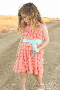 cheap a-line chiffon bohemian design coral flower girl dresses for wedding party flower girls dress coral vestido de daminha