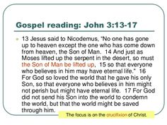 Gospel For Today, Gospel Reading, The Son Of Man, Jesus Quotes, Sayings, Lyrics, Word Of Wisdom, Jesus Christ Quotes, Quotes
