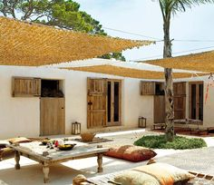 Pergola For Small Backyard Code: 8515714711 Outdoor Rooms, Outdoor Gardens, Outdoor Living, Outdoor Decor, Exterior Design, Interior And Exterior, Terrazas Chill Out, Porch And Terrace, Ibiza