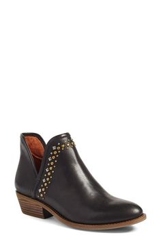 Lucky Brand Kendy Studded Bootie (Women) at Nordstrom.com. Polished studs and a stacked block heel further the understated Western influence of a wear-anywhere bootie updated with deep side notches.