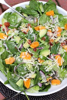 Spinach Mandarin Poppy Seed Salad - just in time for spring!