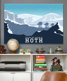'Hoth' Gallery-Wrapped Canvas #zulily #zulilyfinds