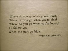 when the stars go blue