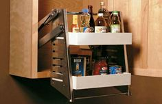 How To Install A Pull Down Shelf Diy Cabinets Tall Kitchen