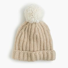 Favorite Cold Weather Accessory (this cute pom pom beanie from J.Crew)