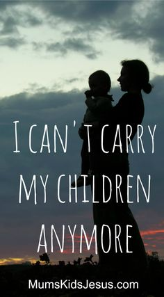 As a mum, it is the hardest thing to see your child struggle with issues they should not have to face. It is the hardest thing to come alongside them, and help them find a way forward. I can't do it anymore. I can't carry my children. Read my personal story of letting go and letting God. (With free printable: 12 Practical Ideas to Help You as You Help Your Child Through Difficult Times.)