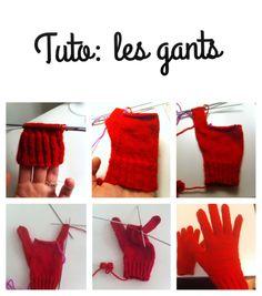 Tuto : tricoter des gants (tuto en bas de la page)