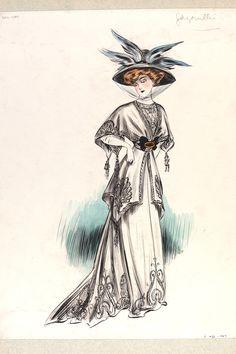 Jeanne Paquin (1869-1936), fashion design, Paris, 1907. Museum no. E.1432-1957