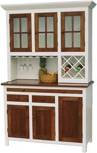 Amish Shaker Wine Hoosier Hutch