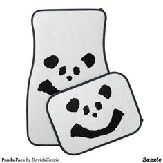 Panda Face Front and Rear Car Mats  Available on more products! Type in the name of the design in the search bar on my Zazzle Products Page. Thanks for looking!   #auto #automotive #car #mat #rear #front #accessory #fun #zazzle #buy #sale #cute #cuddly #panda #bear #cartoon #illustration #black #white #drawing #nature #planet #earth #animal #friend