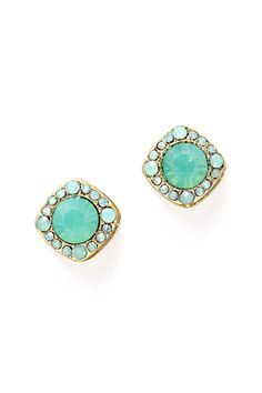 Crystal Maddie Earrings in Opalescent Mint on Emma Stine Limited