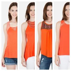 Flaunt that Summer tan in tangerine-colored tops from our O.C. Collection: www.byerca.com/o-c-collection