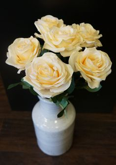 Sweet Home Deco 19'' Single Rose Spray Silk Artificial Flowers (Set of 3) (Cream) *** You can find out more details at the link of the image.