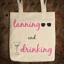 """Two of my favorite things... """"Spray"""" Tanning and Drinking ;-)"""