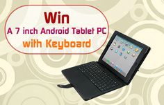 Win an Android Tablet with keyboard!