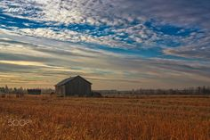 Morning On The Autumn Fields - The morning sun fades the mist on the autumn…