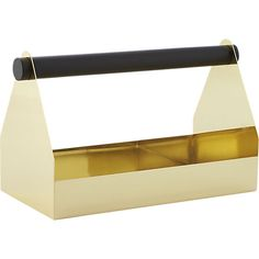 so handy all gold everything  i envision.... bath produxt luxury in repose handy gold caddy in storage accessories | CB2