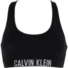 Calvin Klein Swimwear Women Logo Racerback Lycra Bikini Bralette (940 ARS) ❤ liked on Polyvore featuring swimwear, bikinis, bikini tops, tops, swimsuits, calvin klein, black, bathing suits two piece, swim suits and racerback bikini top