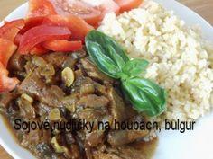 Recepty babičky Aničky - Zeleninová a bezmasá jídla - Pohanka, jáhly, sója, kroupy, cizrna, bulgur Tempeh, Tofu, Beef, Diet, Bulgur, Red Peppers, Meat, Steak