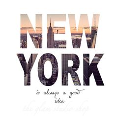 In New York, concrete jungle where dreams are made of…. I was going to make this a guide to seeing New York in 24 hours or less but then I thought WHO AM I KIDDING? NYC is far too fabulous… New York Poster, Ciudad New York, New York Quotes, New York City, Creation Photo, Nyc Life, Manhattan Skyline, Skyline Art, New York