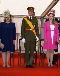 Grand Duke Henri, Grand Duchess Maria-Teresa and Hereditary Grand Duchess Stephanie (R) on the National Day of Luxemburg in Luxembourg, 23.06.2014.