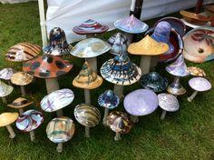 Beautiful ceramic mushrooms
