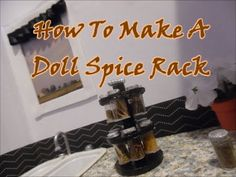 Create a cute spice rack for your doll's kitchen! Follow us on Twitter @RedCarpetDoll or Facebook: Red Carpet Dolls by Toni Nicole
