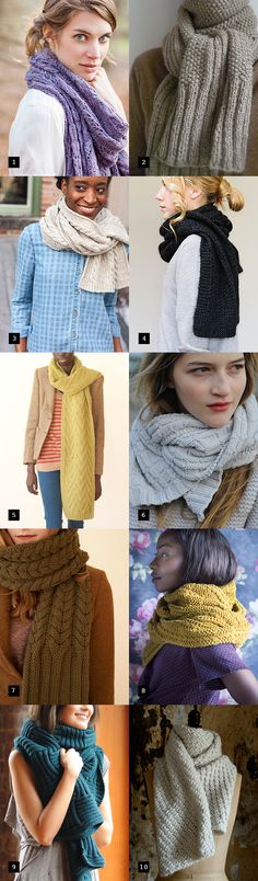 10 Knit Scarves To Start Knitting Now - Free Knitted Patterns - (fringeassociation)