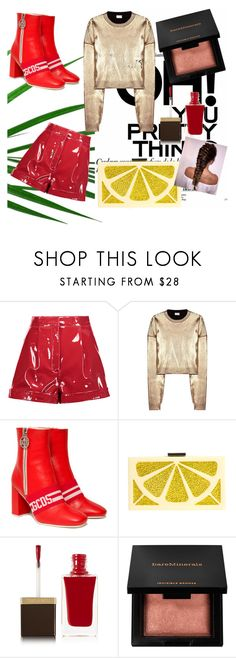 """Shine bright!!"" by annmariec2 ❤ liked on Polyvore featuring Valentino, Yves Saint Laurent, GCDS, Alice + Olivia, Tom Ford and Bare Escentuals"