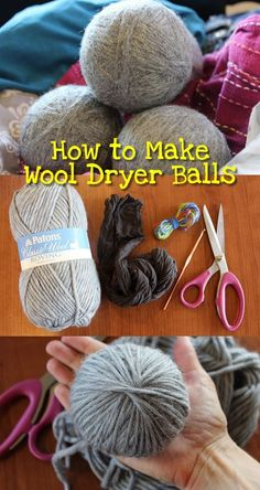 to Make Wool Dryer Balls How to Make Wool Dryer Balls - So easy & a great gift idea with essential oils! How to Make Wool Dryer Balls - So easy & a great gift idea with essential oils! Diy Projects To Try, Craft Projects, Wooly Bully, Wool Dryer Balls, Wie Macht Man, Cleaners Homemade, Diy Cleaners, Natural Cleaning Products, Just For You