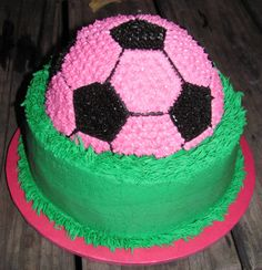 Kate wants a purple and pink soccer theme for her B-day. Wonder if I could do this?