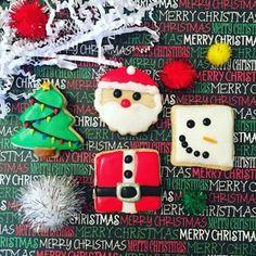 🎉 (@thesweetconfetti) • Instagram photos and videos Christmas Food Treats, Christmas Desserts, Christmas Cookies, Christmas Love, Christmas Holidays, Xmas, Holiday Festival, Custom Cakes, Yummy Cakes