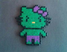 The Hulk Hello Kitty perler beads. by sugargalaxystore