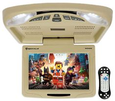 Package Rockville Beige Flip Down Car Monitor DVD/USB/SD Player + Rockville Wireless Universal Infrared IR Car HeadphonesVideo of Wireless Headphones For Running, Wireless Headphones For Tv, What Is Play, Game Sales, Backup Camera, Game Controller, Lcd Monitor, All In One, Beige