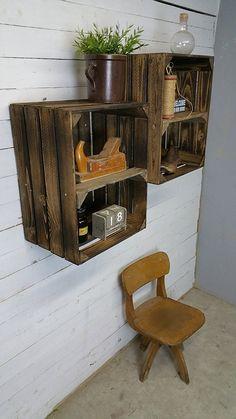 37 id es pour recycler une vieille caisse en bois avec originalit id es pour la maison. Black Bedroom Furniture Sets. Home Design Ideas