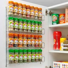 Kitchen cupboards - Details about Chrome 4 Tier Spice Rack Jar Holder for Wall or Kitchen Cupboard – Kitchen cupboards Spice Rack Design, Diy Spice Rack, Spice Storage, Door Storage, Spice Holder, Spice Rack Organiser, Spice Drawer, Kitchen Cupboard Organization, Kitchen Cupboard Doors