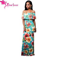 Beautiful Off-The-Shoulder Maxi Dress w  Multiple Designs Available - Sizes  S-XL 0451d341de73