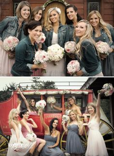 tobeadored. Country wedding at Long Branch Saloon and Farms - bride and bridesmaids