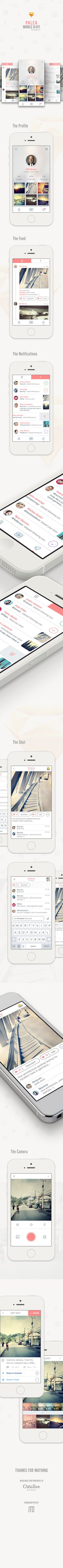 Palea Mobile UI Kit for Sketch#ui #ux #mobile #design #app