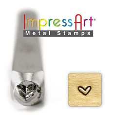 Whimsy Heart ImpressArt Metal Design Stamp, 3mm- Steel Hand Punch, Jewelry
