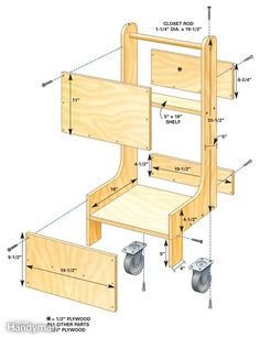 Air Compressor Cart - Article: The Family Handyman Woodworking Workshop, Woodworking Shop, Woodworking Crafts, Woodworking Bench, Woodworking Basics, Woodworking Techniques, Woodworking Classes, Woodworking Videos, Woodworking Quotes